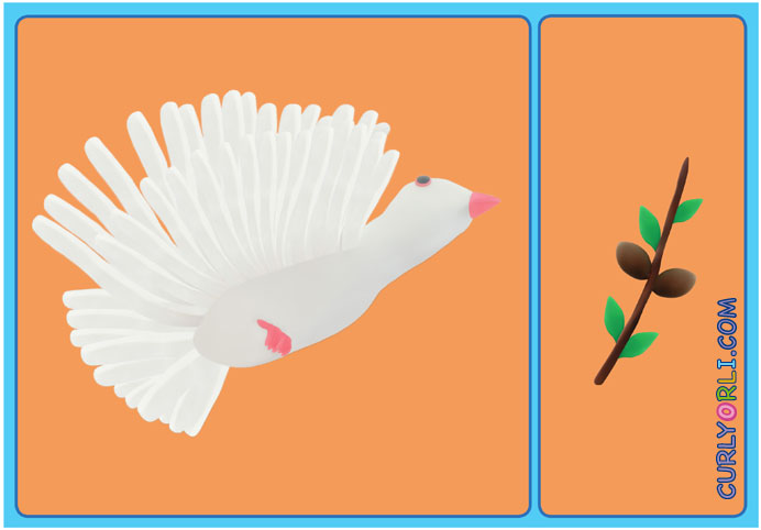 Passover for kids. Make your own Dove of Peace.