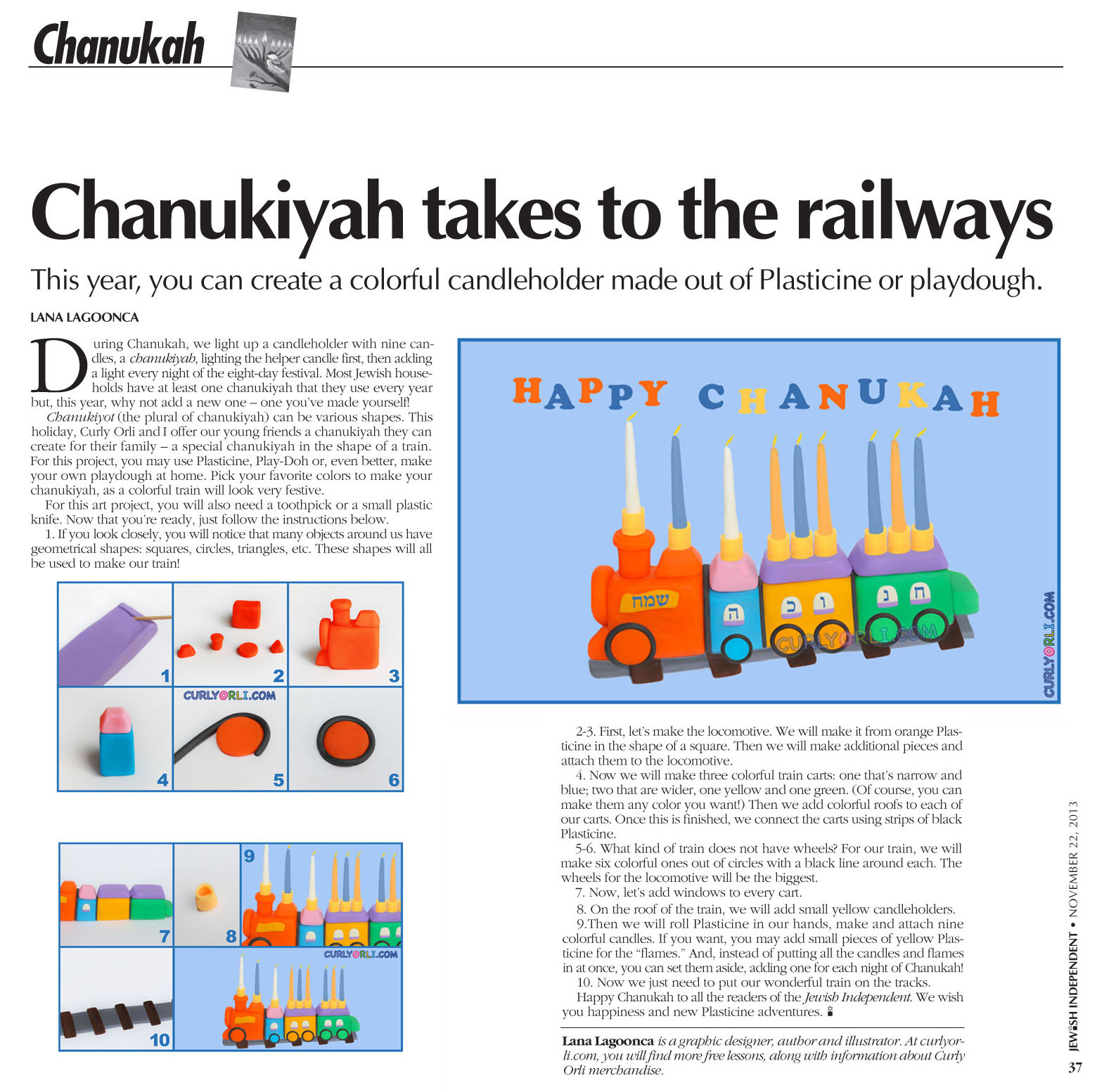 Chanukiah takes to the railways