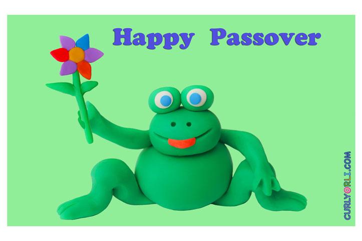Passover Plasticine Frog