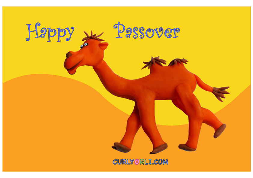 Happy Passover! Clay Camel