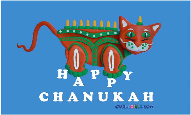 Chanukiah - Meowukiah from plasticine. Chanukah crafts