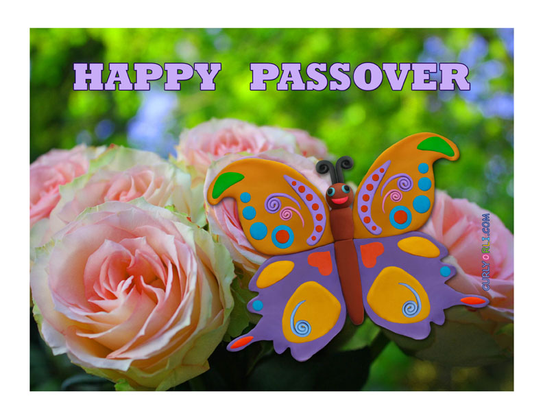 Spring butterfly for Passover 2016